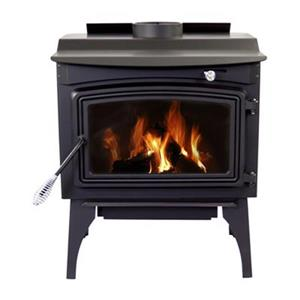 Pleasant Hearth 30.7-in x 25-in Black Medium Wood Burning Stove