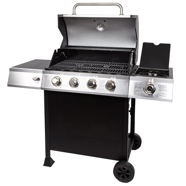 Dyna-Glo Open Cart Gas Grill with Side Burner - 48 000 BTU