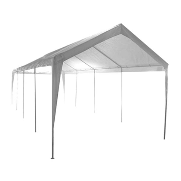 Impact Canopies Canada 10-ft x 27-ft White Carport Canopy