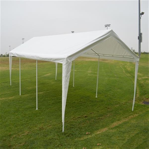 Impact Canopies Canada 10-ft x 20-ft White Heavy-Duty Carport Canopy