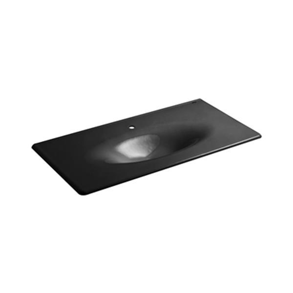 KOHLER 43-in Iron/Impressions One-Piece Surface Lavatory