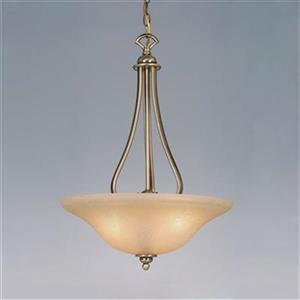 Cascadia Lighting 3-Light Monrovia Classic Antique Brass Large Bowl Pendant Light