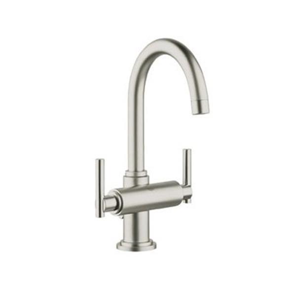 Grohe Atrio Post 11.38 Brushed Nickel Bathroom Sink Faucet