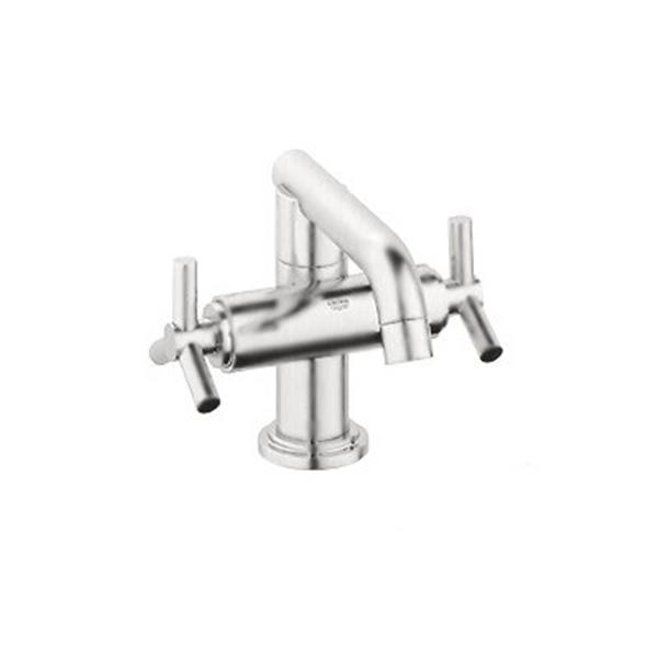Grohe Atrio Post 5.56 Brushed Nickel Bathroom Sink Faucet