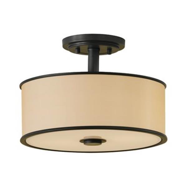 Feiss Casual Luxury 2-Light Dark Bronze Semi Flush Ceiling Light
