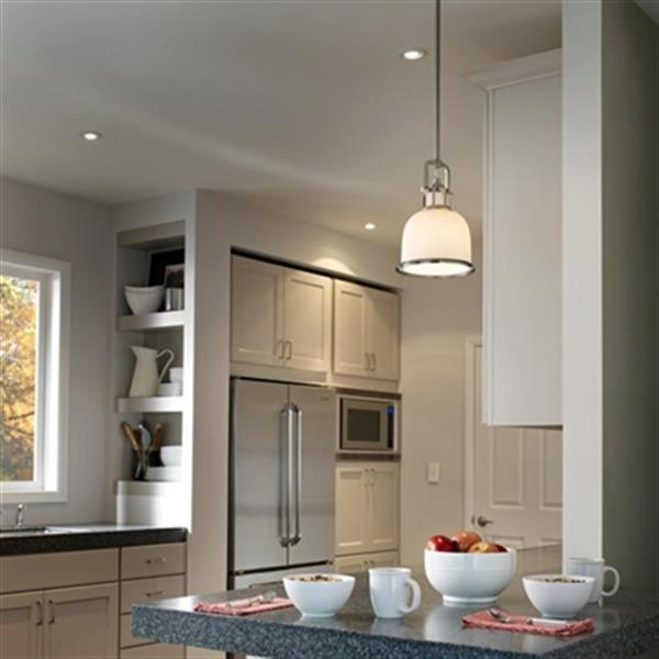 Feiss Parker Place Brushed Steel Large Pendant Light