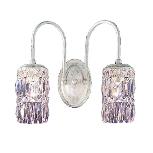 Classic Lighting Cascade Collection English Bronze Crystalique-Plus 2-Light Wall Sconce