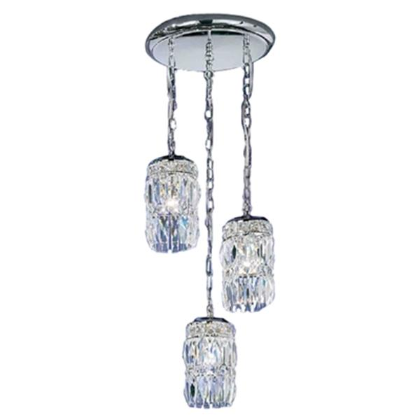 Classic Lighting 3-Light Cascade Antique White/Crystalique-Plus Ceiling Pendant