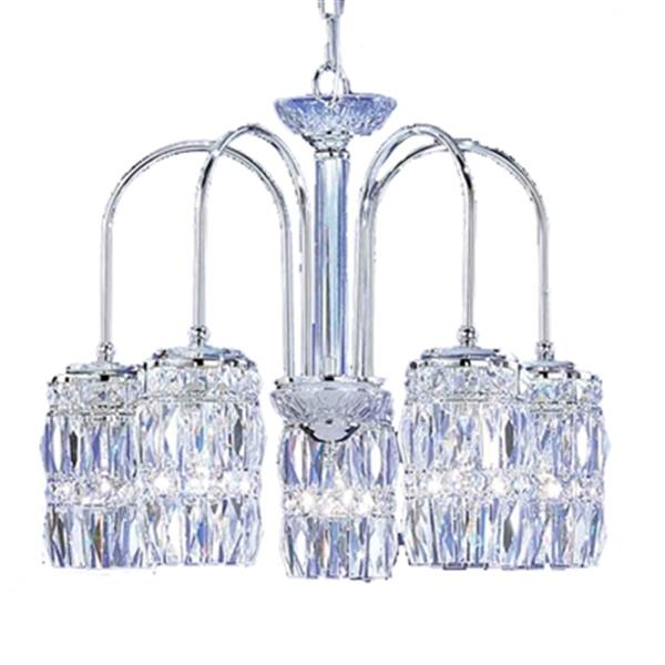 Classic Lighting Cascade 5-Light English Antique White Crystalique-Plus Chandelier