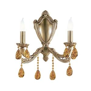 Classic Lighting Flemish Bronze Oysters Tortoise Shell 2-Light Palatial Wall Sconce