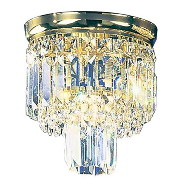 Classic Lighting Chrome Ambassador Semi Flush Ceiling Light