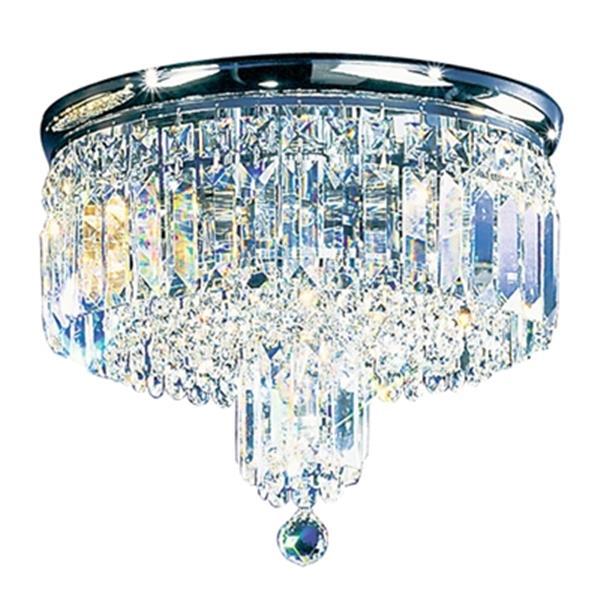 Classic Lighting 4-Light Chrome Ambassador Flush Ceiling Light