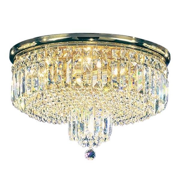 Classic Lighting 7-Light 24k Gold Plate Ambassador Flush Ceiling Light