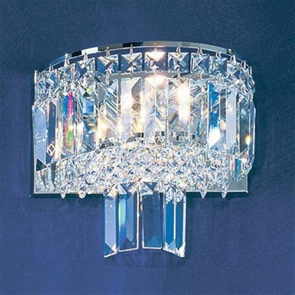 Classic Lighting Ambassador Collection Chrome Crystalique-Plus 2-Light Wall Sconce