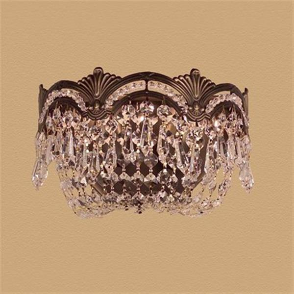 Classic Lighting Regency II Collection Roman Bronze Crystalique-Plus 2-Light Wall Sconce