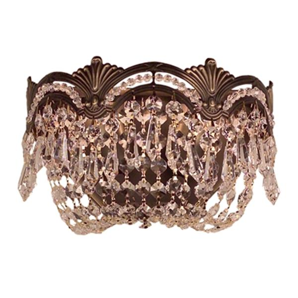 Classic Lighting Regency II Collection Roman Bronze Swarovski Spectra 2-Light Wall Sconce