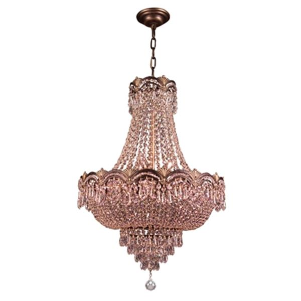 Classic Lighting Regency II 8-Light 29-in 24k Gold Plate Swarovski Strass Chandelier