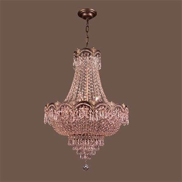 Classic Lighting Regency II 8-Light 29-in Roman Bronze Crystalique-Plus Chandelier