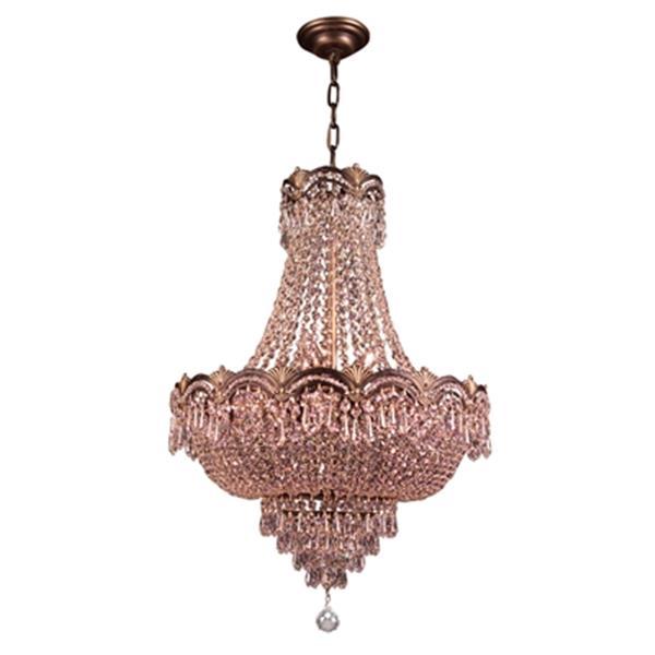 Classic Lighting Regency II 8-Light 29-in Roman Bronze Swarovski Spectra Crystal Chandelier