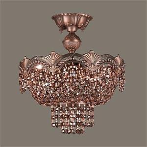 Classic Lighting Regency 3-Light Roman Bronze Semi Flush Ceiling Light