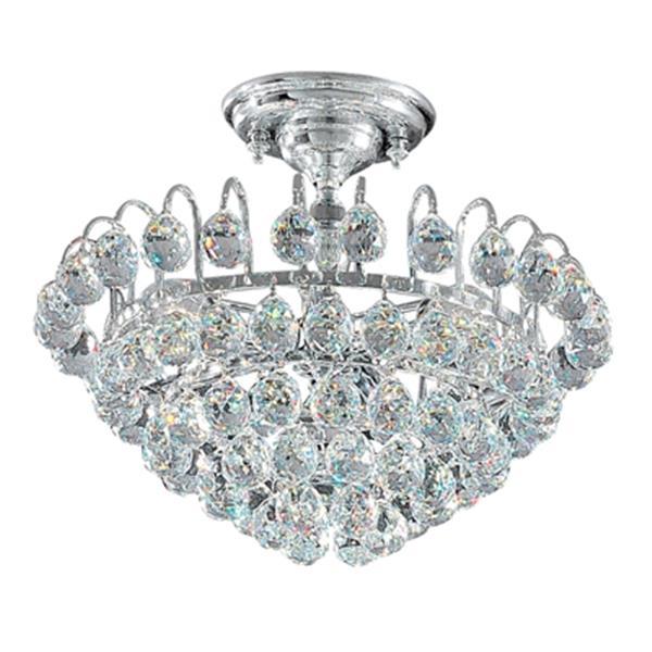 Classic Lighting Diamante 3-Light Chrome Semi Flush Ceiling Light