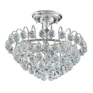 Classic Lighting Diamante 3-Light Chrome Semi Flush Ceiling Light