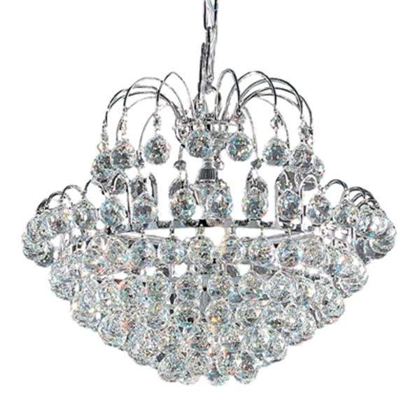 Classic Lighting Diamante Collection  23-in x 19-in Chrome Crystalique-Plus 7-Light Chandelier