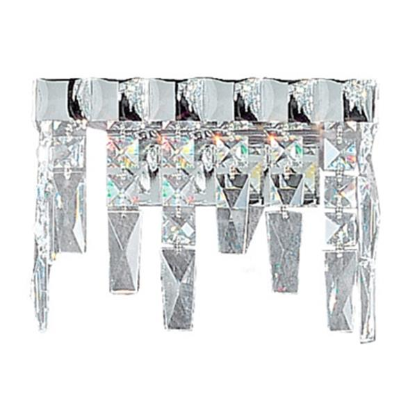 Classic Lighting Uptown Collection Chrome Crystalique-Plus 2-Light Wall Sconce