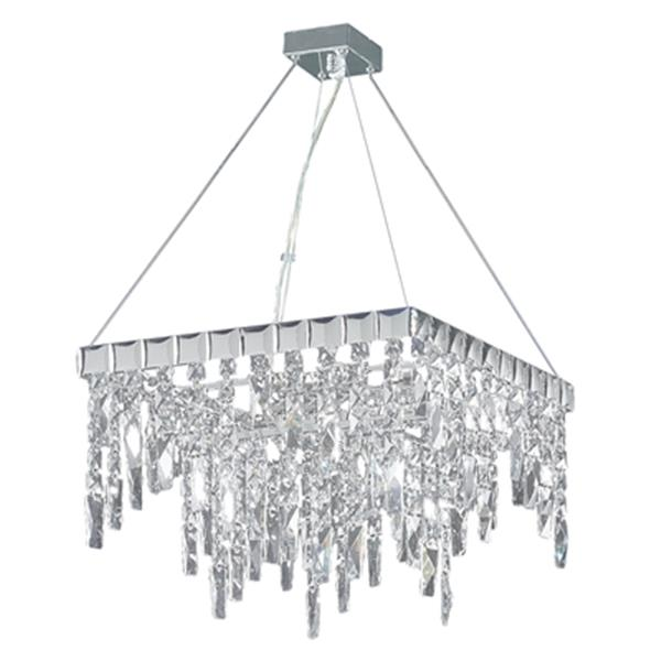 Classic Lighting Uptown Collection 16-in x 24-in Chrome Crystalique-Plus  5-Light Chandelier