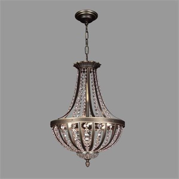 Classic Lighting 6-Light Terragona Roman Bronze Large Bowl Pendant Light