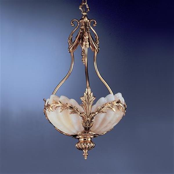 Classic Lighting 3-Light La Paloma Satin Gold Large Pendant Light