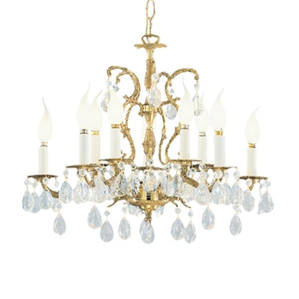 Classic Lighting Barcelona 18-in Millennium Silver Crystalique 10-Light Chandelier