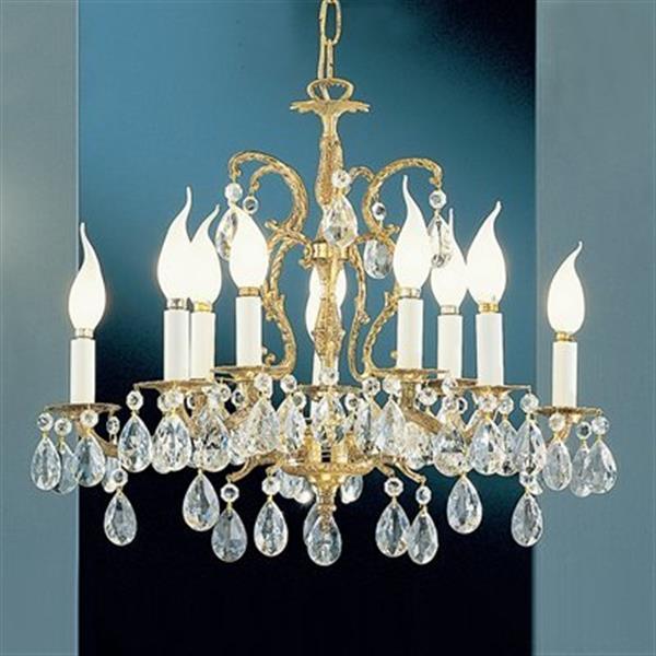 Classic Lighting Barcelona 18-in Olde World Bronze Italian 10-Light Chandelier
