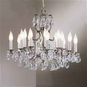 Classic Lighting Barcelona 24-in Millennium Silver Italian16-Light Chandelier
