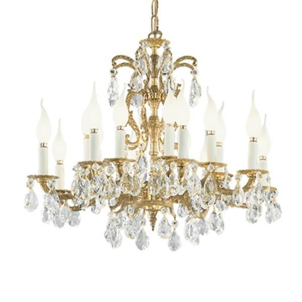 Classic Lighting Barcelona 24-in Olde World Bronze Crystalique 16-Light Chandelier