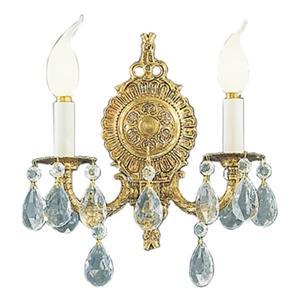 Classic Lighting Barcelona Collection Olde World Bronze Italian Crystal 2-Light Wall Sconce