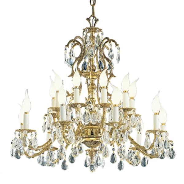 Classic Lighting Barcelona 29-in Old World Bronze Crystalique Golden Teak Chandelier