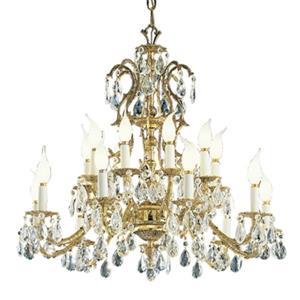 Classic Lighting Barcelona 29-in Old World Bronze Swarovski Spectra Crystal Chandelier