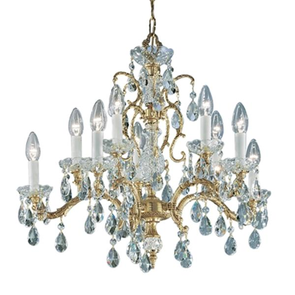 Classic Lighting Madrid 25-in Roman Bronze Crystalique Chandelier
