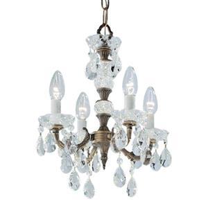 Classic Lighting Madrid Imperial 13-in Roman Bronze Crystalique Mini Chandelier