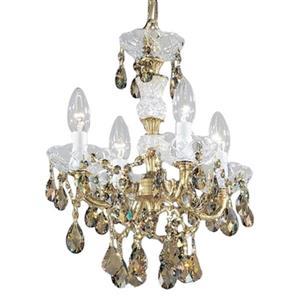 Classic Lighting Madrid Imperial 17-in Old World Bronze Strass Golden Teak 4-Light Mini Chandelier