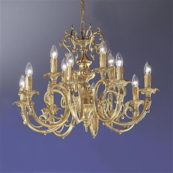 Classic Lighting Princeton 25-in Satin Bronze With Brown Patina 12 Light Chandelier