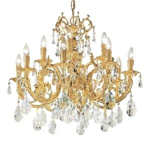 Classic Lighting Princeton 25-in Satin Bronze With Brown Patina 12-Light Chandelier
