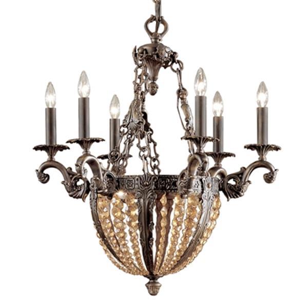 Classic Lighting Merlot 31-in Antique Aged Bronze 9-Light Chandelier