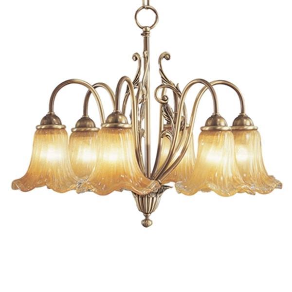Classic Lighting Venezia 19-in Bronze DBP 6-Light Chandelier