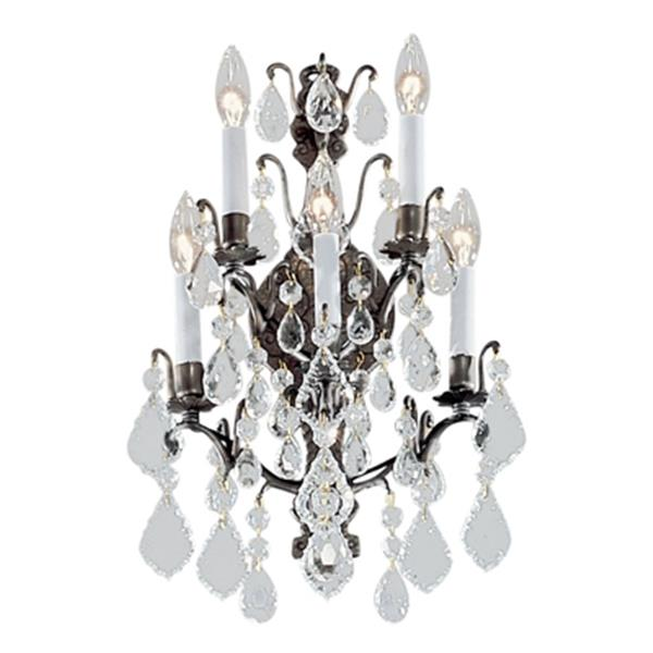 Classic Lighting Versailles Collection Antique Bronze 5-Light Wall Sconce