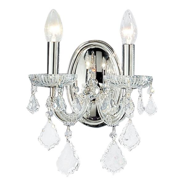 Classic Lighting Maria Theresa Collection Olde World Gold Swarovski Strass 2-Light Wall Sconce