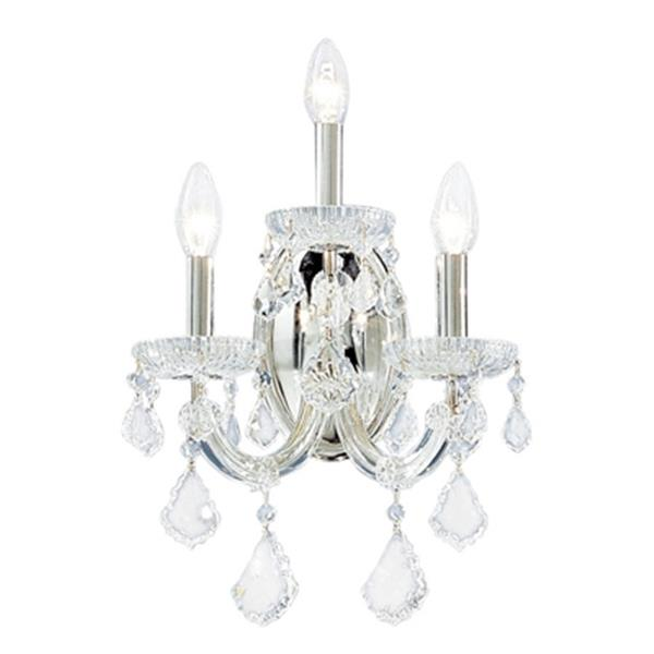 Classic Lighting Maria Theresa Collection Olde World Gold Swarovski Strass Wall Sconce
