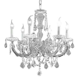 Classice Lighting Maria Theresa 22-in Chrome S 6-Light Chandelier