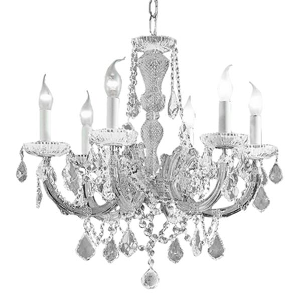 Classic Lighting Maria Theresa 22-in Chrome SC 6-Light Chandelier